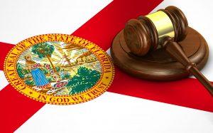 Gavel on Florida Flag