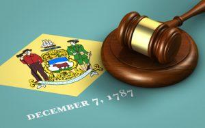 Delaware Flag with Gavel