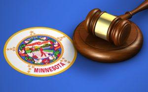 Minnesota Flag with Gavel
