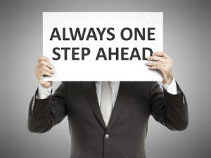 Man Staying A Step Ahead